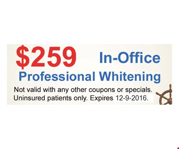 $259 In-Office Professional Whitening