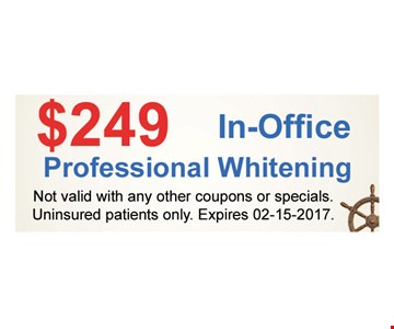 $249 In-Office Professional Whitening