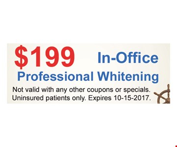 $199 In-Office Professional Whitening