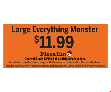 Large Everything Monster $11.99