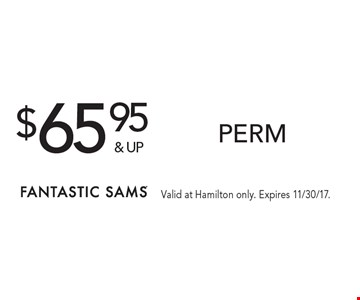 $65.95& upperm. Valid at Hamilton only. Expires 11/30/17.