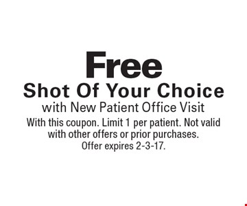 $5 off B-12 Shot(reg. $15). With this coupon. Limit 1 per patient. Not valid with other offers or prior purchases. Offer expires 2-3-17.
