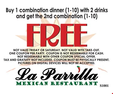 Free dinner with purchase.