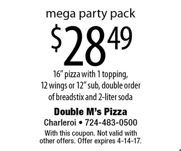 Mega party pack. $28.49 16