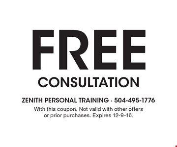FREE CONSULTATION. With this coupon. Not valid with other offers or prior purchases. Expires 12-9-16.