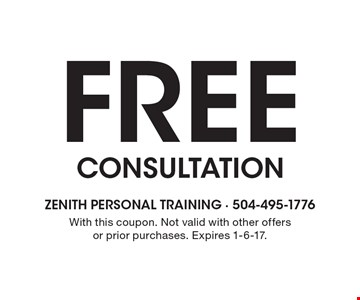 Free Consultation. With this coupon. Not valid with other offers or prior purchases. Expires 1-6-17.