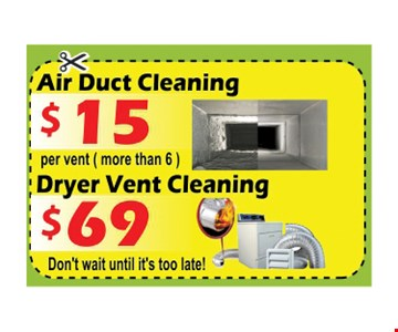 $15 air duct cleaning