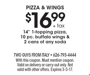 $16.99 + tax 14