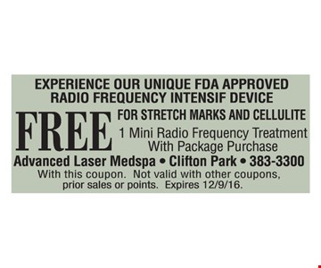 Free frequency treatment with purchase.