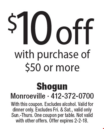 Shogun coupons