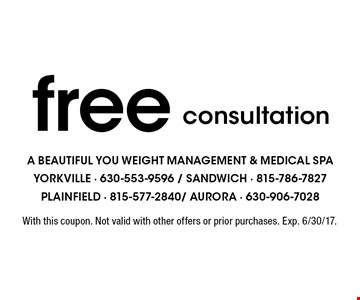 Free consultation. With this coupon. Not valid with other offers or prior purchases. Exp. 6/30/17.