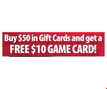 Free $10 Game Card