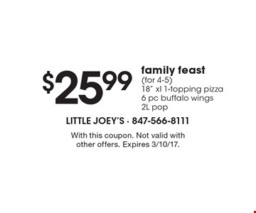 $25.99 family feast (for 4-5) - 18