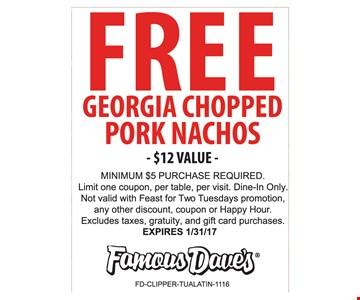 Free Georgia Chopped Pork Nachos