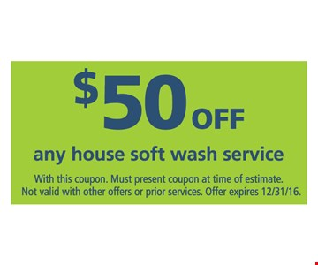$50 off any house soft wash service