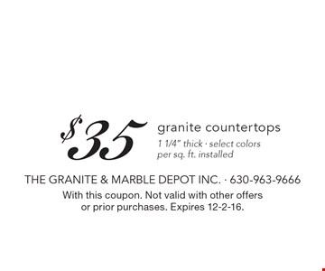 $35 granite countertops 1 1/4