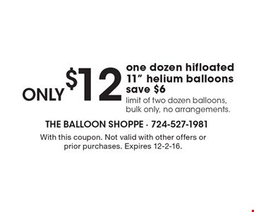 only$12 one dozen hifloated 11
