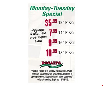 Monday-Tuesday Special
