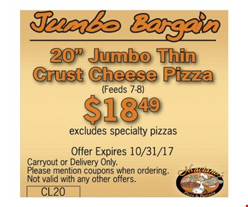 Jumbo Bargain $18.49