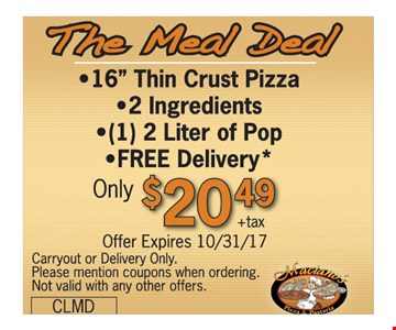 The meal deal only $20.49