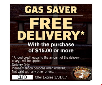 Gas Saver Free Delivery