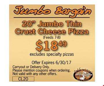 Jumbo Bargain. 20