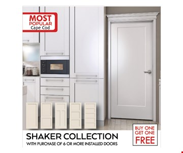 Shaker Collection Buy one Get one Free