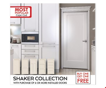 Free Installation. Shaker Collection