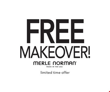 FREE makeover!. Limited time offer