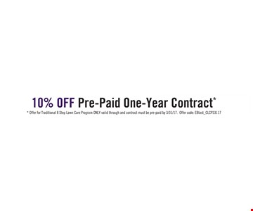 10% Off Prepaid One-Year Contract