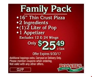 $25.49 family pack 16