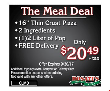 $20.49 meal deal - 16