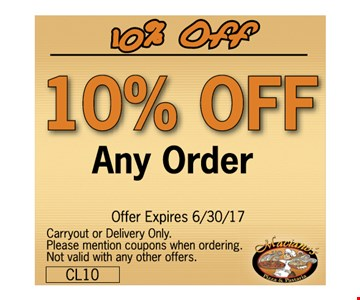 10% off any oder