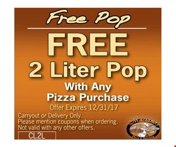 Free 2-liter pop