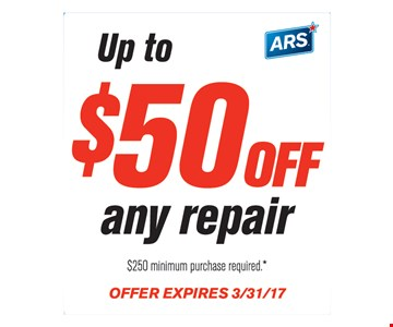 Up to $50 off any repair