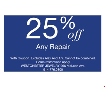 25% off any repair