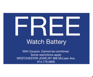 Free watch battery