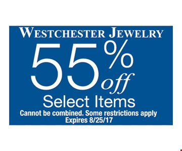 55% Off Select Items