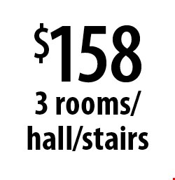 $158 3 rooms/hall/stairs. Offers expires 5-5-17.
