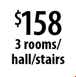 $158 3 rooms/hall/stairs. Offers expires 6-9-17.