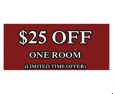$25 Off One Room