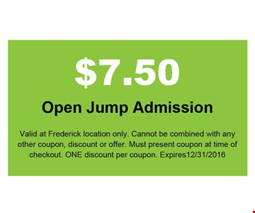 $7.50 open jump admission