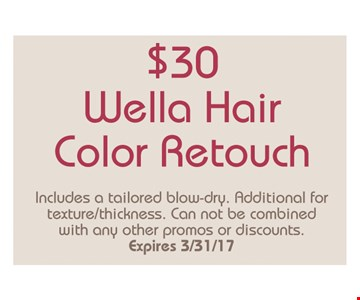 $30 Wella Hair Color Retouch