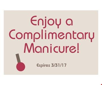 Enjoy a Complimentary Manicure