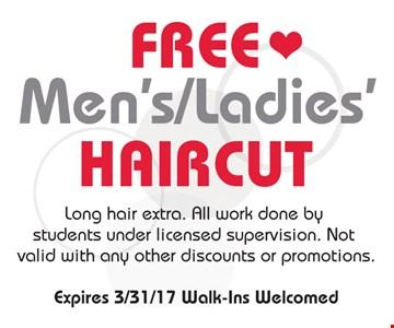 Free mens/ladies haircut