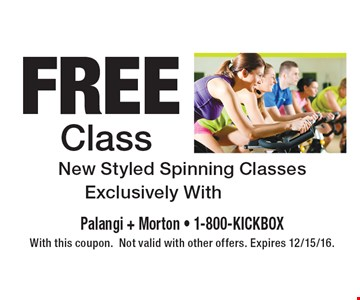 Free Class. New Styled Spinning Classes Exclusively With Moi Cycle. With this coupon. Not valid with other offers. Expires 12/15/16.