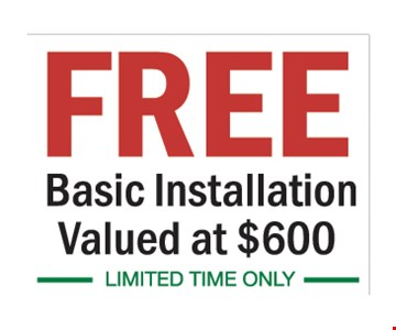 Free basic installation