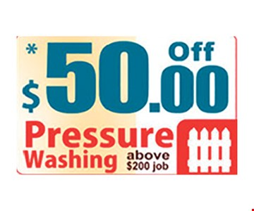 $50.00 Off Pressure Washing