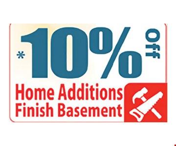 10% off home additions finish basement