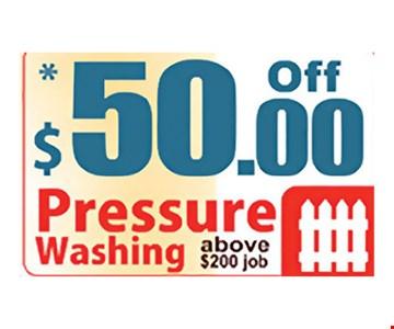 $50 off pressure washing